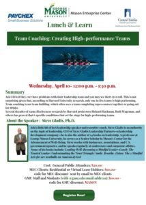 Lunch & Learn – Team Coaching: Creating High-performance Teams