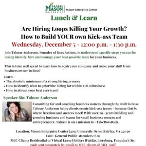 Lunch & Learn – Are Hiring Loops Killing Your Growth? How to Build YOUR own Kick-ass Team